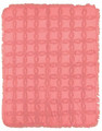 """SOMERSET"" TUFTED COTTON THROW BLANKET - CORAL - 60"" X 50"" - SOLID COLOR THROW"
