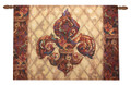 "LAVISH FLEUR DE LIS WALL HANGING WITH ROD - 26"" X 36"" - WALL ART"