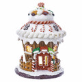 LED LIGHTED CUPCAKE GINGERBREAD HOUSE WITH CANDY & COOKIE TRIMMED ROOF