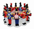 CHRISTMAS DECORATIONS - CIRCLE OF TOY SOLDIERS CENTERPIECE