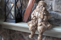 CHRISTMAS DECORATIONS - SEATED SANTA WITH TOYS SHELF SITTER - HOLIDAY FIGURINE