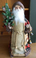 "WOODLAND SANTA CHRISTMAS TREE TOPPER - 17.5""H - CHRISTMAS TREE & BELLS"