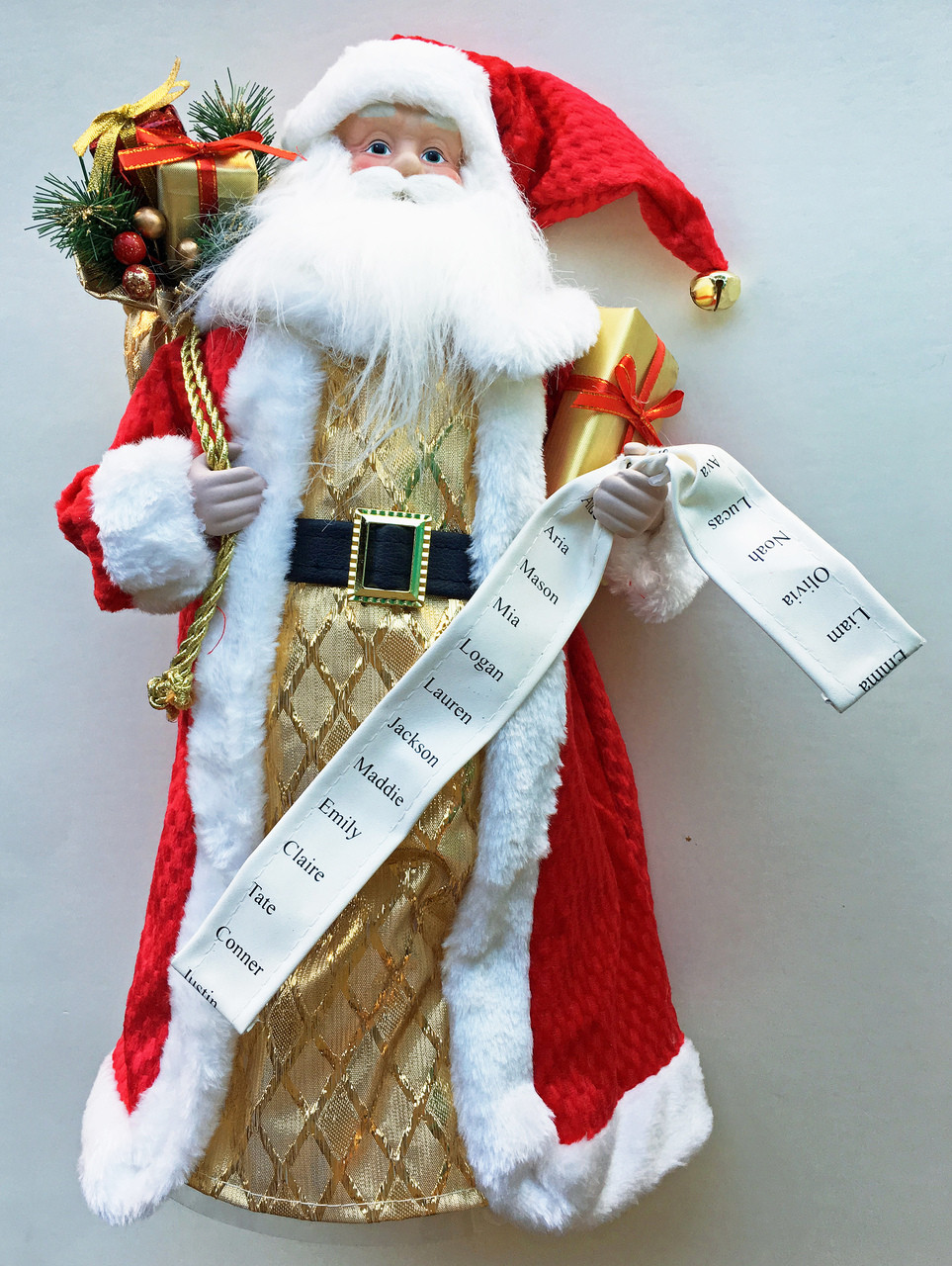 Christmas Tree Toppers.Here Comes Santa Claus Christmas Tree Topper 18 H