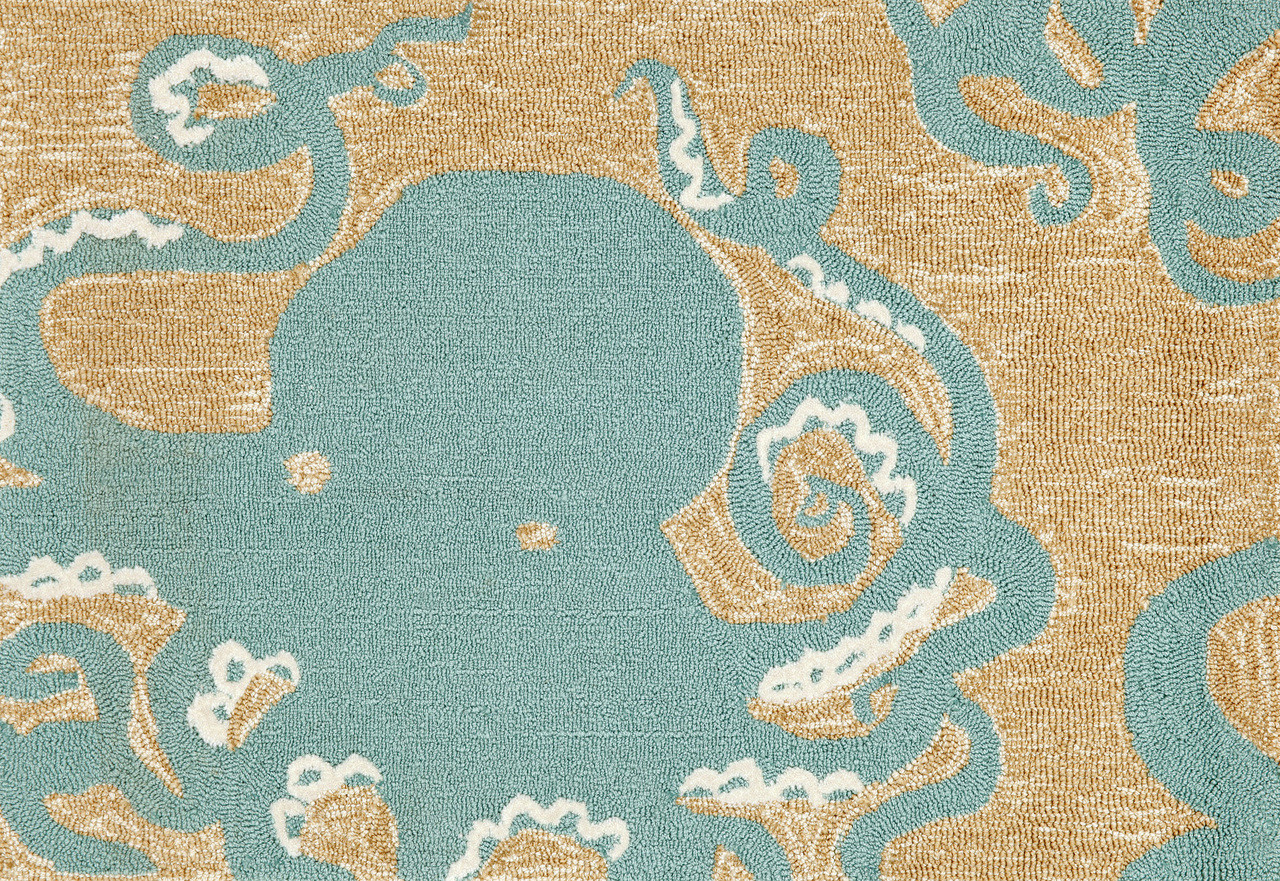 Ocean Dwelling Octopus Indoor Outdoor Rug 20 X 30 Nautical Decor