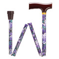 "WALKING STICKS - ""JUBILEE GARDENS"" ADJUSTABLE HEIGHT FOLDING CANE"