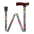 "WALKING STICKS - ""LANCASHIRE GARDENS"" ADJUSTABLE HEIGHT FOLDING CANE"
