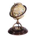 "OLD WORLD MERCATOR DESK GLOBE WITH COMPASS - 16TH CENTURY MAP - 8.25""H"