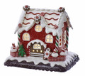 CHRISTMAS DECORATIONS - LIGHTED GINGERBREAD HOUSE WITH GINGERBREAD MAN & TREE
