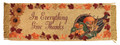 """GIVE THANKS"" TABLE RUNNER - THANKSGIVING DECOR - 12.5"" X 36"""