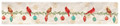 """CHRISTMAS CARDINALS"" TABLE RUNNER - 13"" X 72""L"