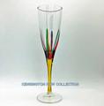 """POSITANO"" CHAMPAGNE FLUTE - YELLOW STEM - HAND PAINTED VENETIAN GLASSWARE"
