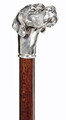 SILVER PLATED LABRADOR RETRIEVER WALKING STICK - CANE - MADE IN ITALY