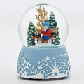 """SIPPING HOT CHOCOLATE"" MUSICAL SNOW GLOBE"