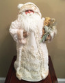 "CHRISTMAS TREE TOPPERS - WINTER WHITE WOODLAND SANTA TREE TOPPER - 18""H"