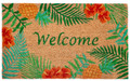 "DOOR MATS - ""TROPICAL ISLE"" VINYL BACK COIR DOORMAT - 18"" X 30"""