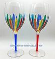 """""""RAVENNA"""" OVERSIZED WINE GLASSES - SET/2 - BLUE & RED - VENETIAN GLASSWARE"""