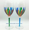 RAVENNA OVERSIZED WINE GLASSES - SET/2 - GREEN & TURQUOISE - VENETIAN GLASSWARE