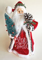 "TREE TOPPERS - JOYFUL SANTA CHRISTMAS TREE TOPPER - 12.5""H"