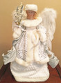 CHRISTMAS TREE TOPPERS - WINTER WHITE ANGEL TREE TOPPER