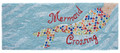 "AREA RUGS - ""MERMAID CROSSING"" INDOOR OUTDOOR RUG - 24"" x 60"" RUNNER"