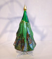 "CHRISTMAS DECORATIONS - MURANO GLASS MILLEFIORI CHRISTMAS TREE - GREEN - 5""H"