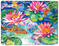 """GIVERNY"" WATERLILY THROW BLANKET - 50"" X 60"" - FLORAL DECOR"