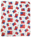 """FANCIFUL FLAGS"" FLEECE THROW BLANKET - 50"" X 60"" - AMERICAN FLAG"