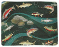 """GONE FISHING"" FLEECE THROW BLANKET - 50"" X 60"" - LAKE HOUSE DECOR"