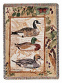 "DUCK DECOY TAPESTRY THROW BLANKET - 50"" X 60"" - LAKE HOUSE DECOR - LODGE DECOR"