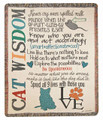 """A CAT'S LIFE"" TAPESTRY THROW BLANKET - 50"" x 60"""