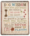 """A DOG'S LIFE"" TAPESTRY THROW BLANKET - 50"" x 60"""