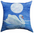 """SWAN LAKE"" INDOOR OUTDOOR PILLOW - 18"" SQUARE"