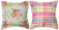 """PROVENCAL FLORAL"" INDOOR OUTDOOR REVERSIBLE PILLOW - 18"" SQUARE"