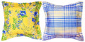 """LUXEMBOURG GARDENS"" INDOOR OUTDOOR REVERSIBLE PILLOW - 18"" SQUARE"
