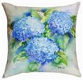 """HYDRANGEA GARDEN"" INDOOR OUTDOOR PILLOW - 18"" SQUARE"