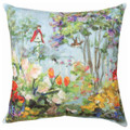 """SPRING GARDEN"" INDOOR OUTDOOR PILLOW - 18"" SQUARE - FLORAL DECOR"