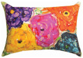"""GARDEN FLORAL"" INDOOR OUTDOOR PILLOW - 18"" X 13"" - FLORAL DECOR"