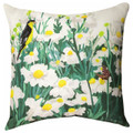 """DAISY BLOSSOMS"" INDOOR OUTDOOR PILLOW - 18"" SQUARE - FLORAL DECOR"