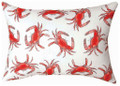 """DANCING CRABS""  INDOOR OUTDOOR OBLONG THROW PILLOW - 18"" X 13"""