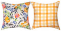 """FRUIT & FLORAL"" REVERSIBLE PILLOW - 18"" SQUARE"