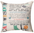 """A CATS LIFE"" THROW PILLOW - 18"" SQUARE"