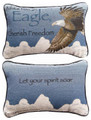"""ADVICE FROM AN EAGLE"" REVERSIBLE THROW PILLOW - 12.5"" x 8.5"" - LODGE DECOR"