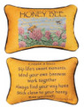 """ADVICE FROM A HONEY BEE"" REVERSIBLE THROW PILLOW - 12.5"" x 8.5"" - NATURE PILLOW"