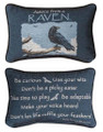 """ADVICE FROM A RAVEN"" REVERSIBLE THROW PILLOW - 12.5"" x 8.5"" - GIFTS FOR NATURE LOVERS"