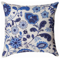 """CHELSEA FLORAL"" THROW PILLOW - 18"" SQUARE - FLORAL DECOR"