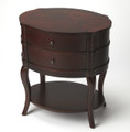 BRISBANE MANOR OVAL END TABLE - SIDE TABLE - PLANTATION CHERRY FINISH - FREE SHIPPING*