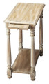MONTEREY SIDE TABLE WITH PULL OUT SHELF - DRIFTWOOD FINISH - FREE SHIPPING*