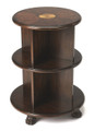 BELGRAVIA INLAID BOOKCASE END TABLE - PLANTATION CHERRY FINISH - FREE SHIPPING*