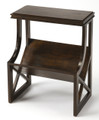 """OXFORD"" BOOKCASE TABLE - DARK BROWN FINISH - FREE SHIPPING*"
