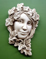 "GARDEN PLAQUES -""THE IVY MAIDEN"" STONE WALL SCULPTURE - AGED STONE FINISH"